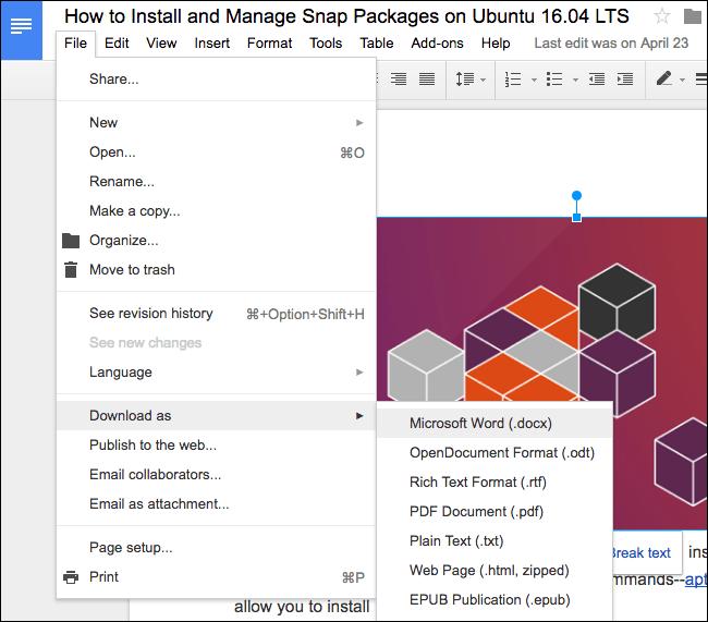 Cara Mengkonversi Dokumen Google Docs ke Format Microsoft Office