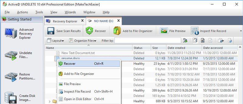 Cara Recovery File, Folder dan Partisi yang dihapus Menggunakan Active Undelete