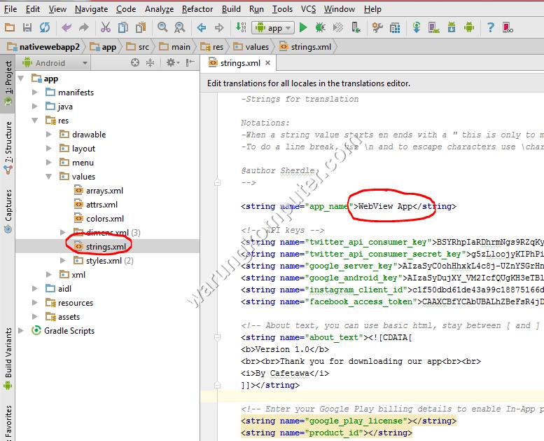 Bagian 5 : Mempersiapkan Nama Aplikasi, Icon Launcher dan Logo