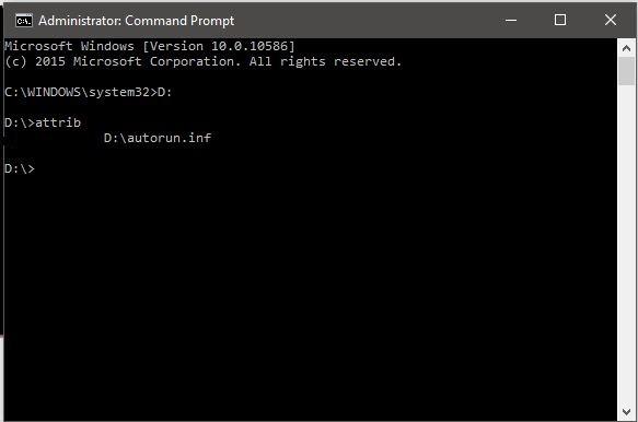 Cara Menghapus Virus Dari USB Pada Windows 10 Menggunakan CMD