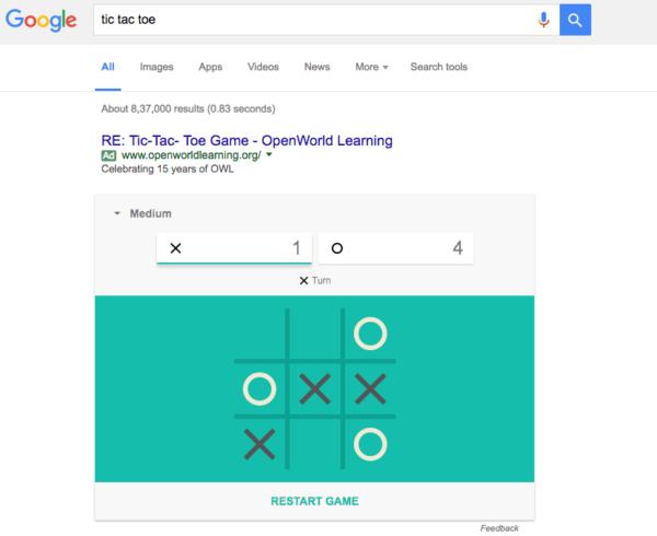 Cara Bermain Tic-tac-toe dan Solitaire di Google Search