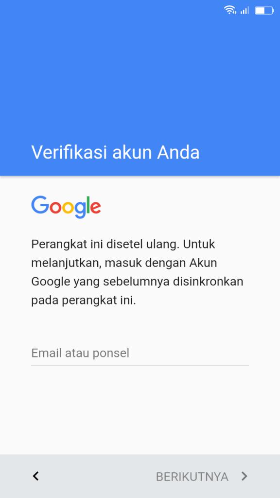 Cara Bypass Google Account Advan I5E