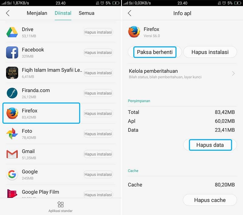 Cara Mengatasi Firefox Tidak Bisa Dibuka di Android