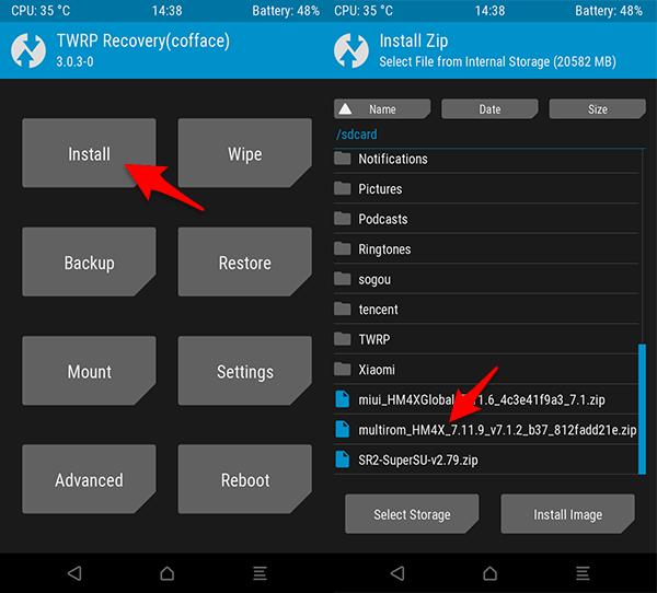 Cara Install ROM Multi ROM MIUI 9 Nougat Redmi 4X