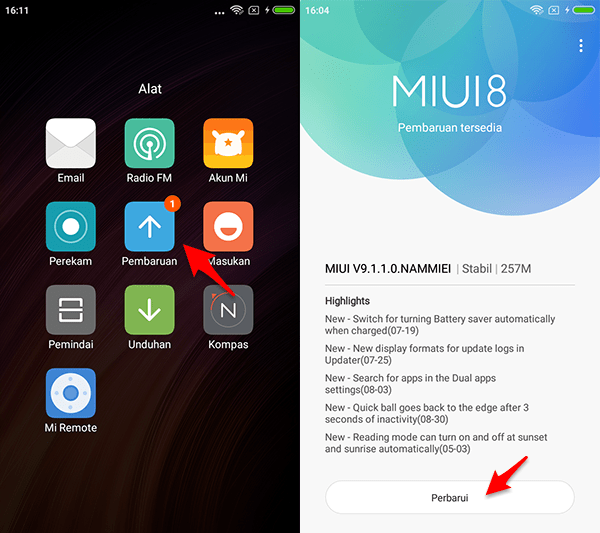 Cara Update Redmi 4X Ke ROM MIUI 9 Global Stable