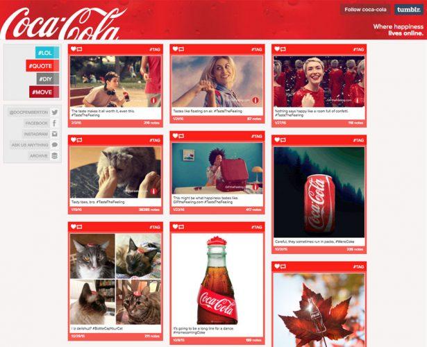 coca cola - Gaya Masonry Grid Menakjubkan Tema Portofolio WordPress