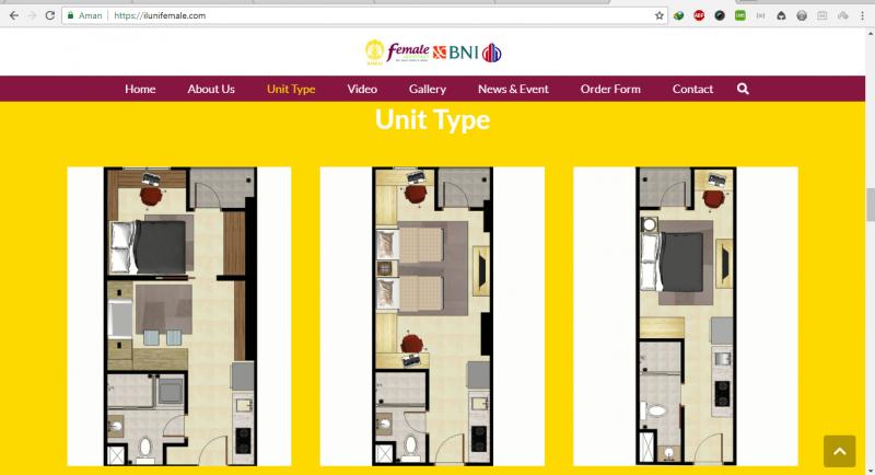 Website Company Profile - Iluni Female Apartement