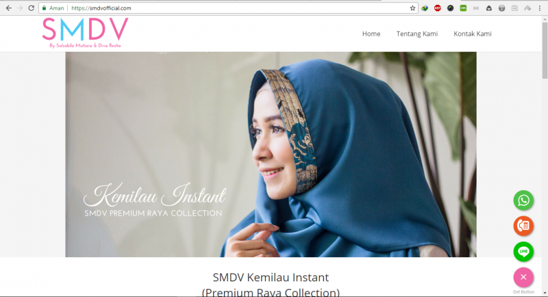 Website Company Profile - SMDV Hijab