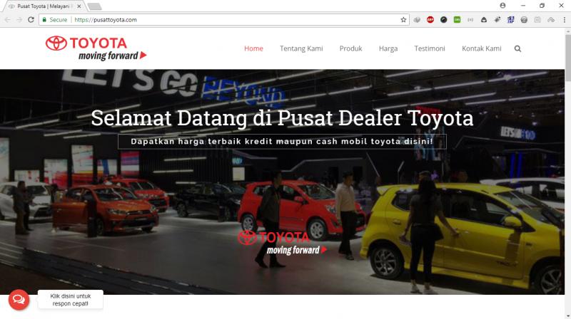Website Company Profile - Pusat Toyota
