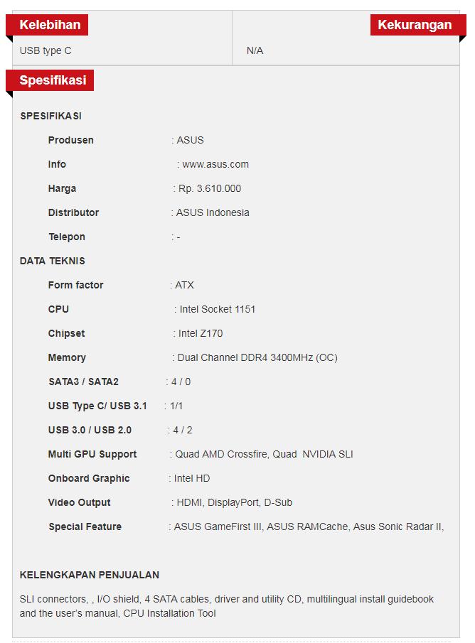 asus merilis motherboard z170