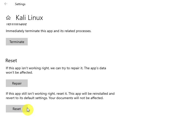 Tutorial Reset WSL Linux Distro di Windows 10