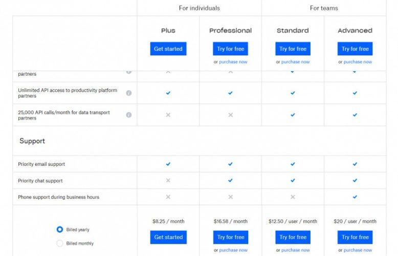 Dropbox Menerapkan Batas Penggunaan