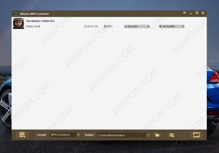DRmare M4V Converter Windows