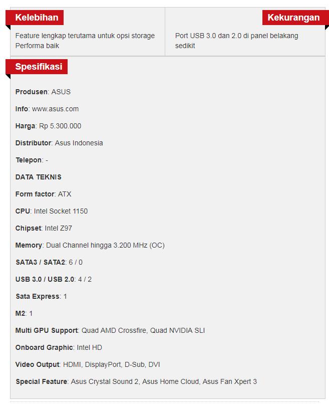 motherboard asus z97