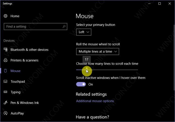 Mengatur Kecepatan Scroll mouse