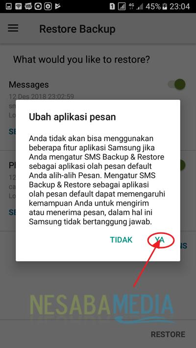 Tutorial Backup Data SMS