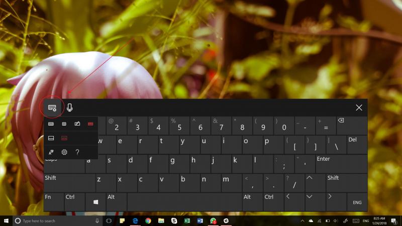 Merubah Ukuran Keyboard On-screand
