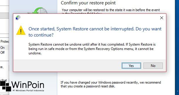 Tips Melakukan System Restore