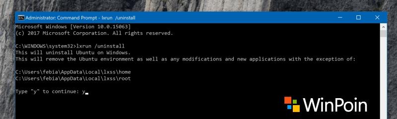Tips Uninstall Bash Linux di Windows 10