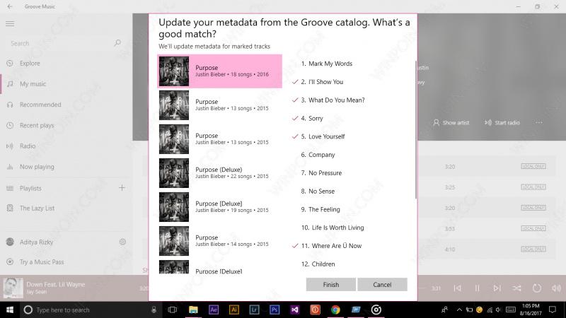 Mengubah Metadata Lagu dengan Groove Music