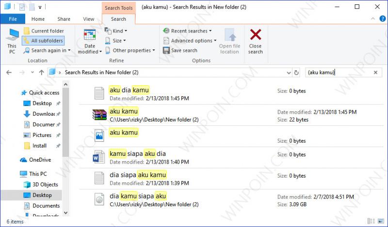 Tips Mencari Beberapa File