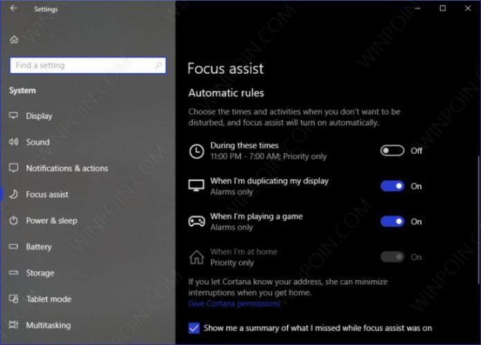 Tips Mengaktifkan Focus Assist