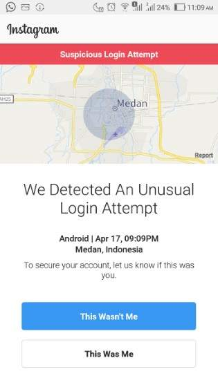 instagram tidak bisa login