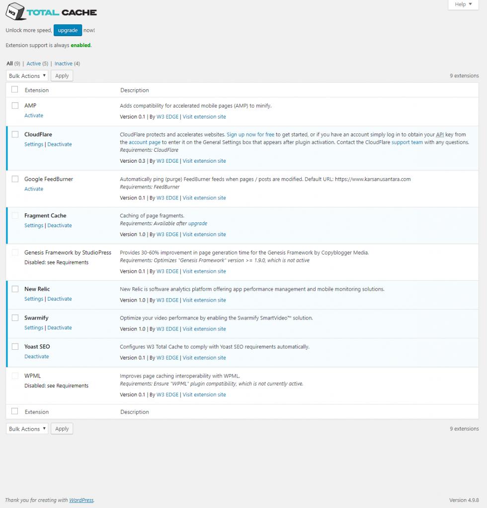 Cara Setting W3 Total Cache pada WordPress