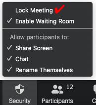 lock zoom meeting